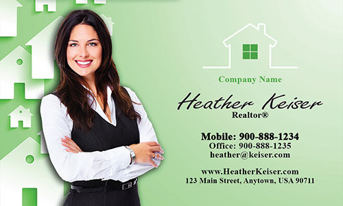 Realtor Photo Business Card - Design #106172