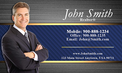 Stylish Realtor Business Card - Design #106182