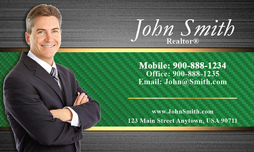 Stylish Realtor Business Card - Design #106184