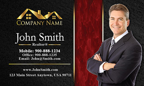 Trendy Realtor Photo Business Card - Design #106191
