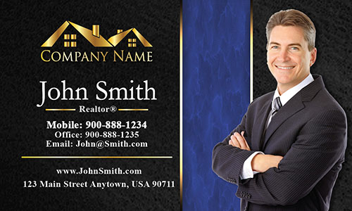 Trendy Realtor Photo Business Card - Design #106192