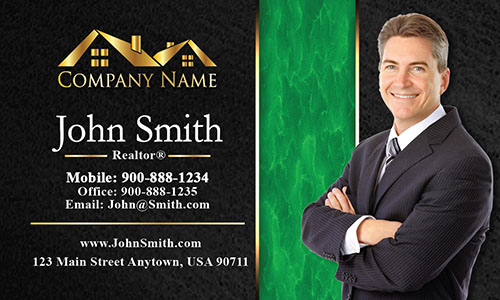 Trendy Realtor Photo Business Card - Design #106194