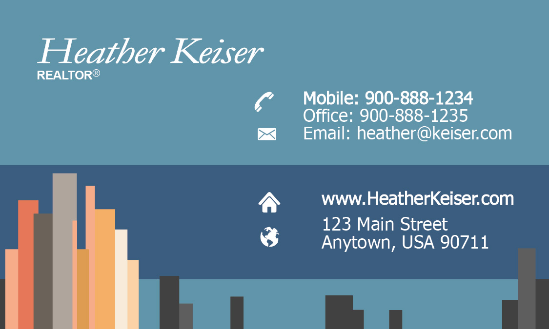 City Style Real Estate Business Card - Design #106201