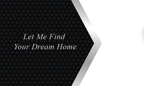 Black and White Realtor Business Card - Design #106221