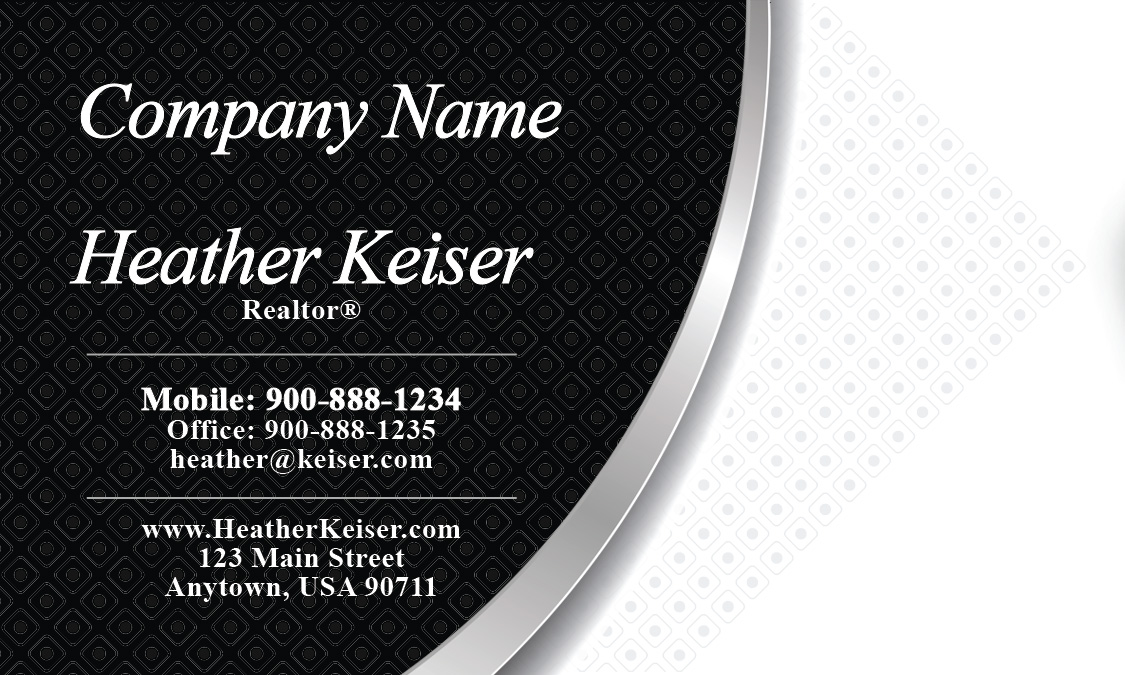 and White Realtor Business Card - Design #106221