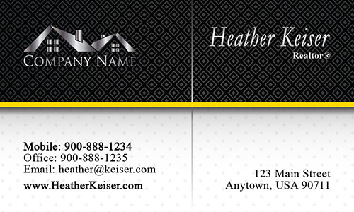 Clean and Minimal Realtor Business Card - Design #106231