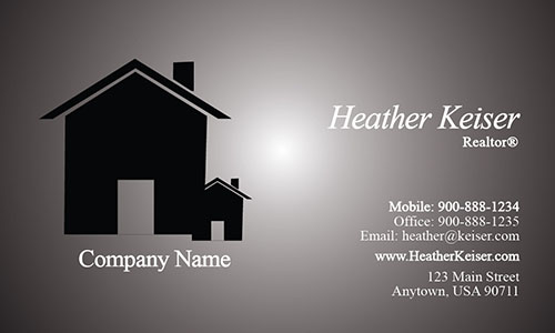 Real Estate and Property Management Business Card - Design #106241