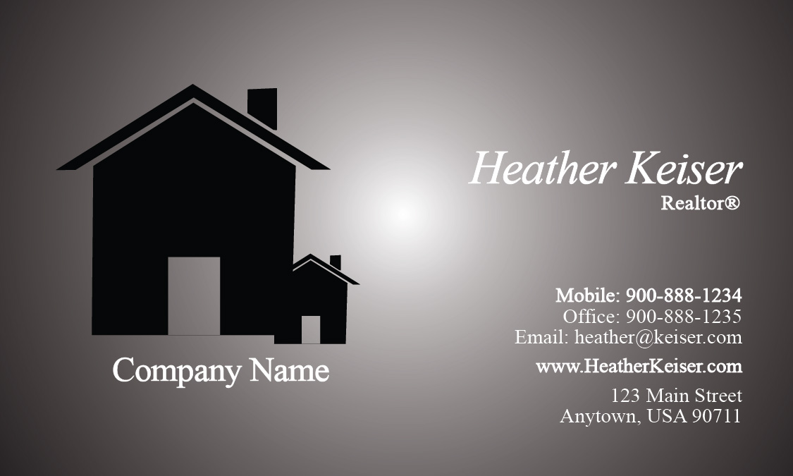 Estate and Property Management Business Card - Design #106241
