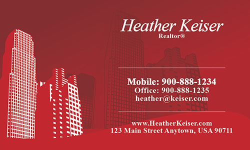 City Style Buildings Realtor Business Card - Design #106251