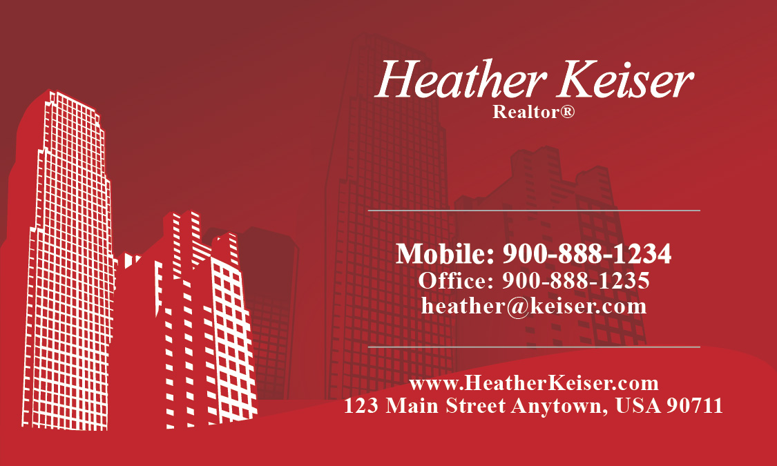 Style Buildings Realtor Business Card - Design #106251