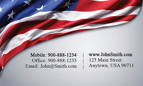 Patriotic Realtor Business Card - Design #106261