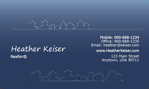 Abstract House Real Estate Business Card - Design #106271