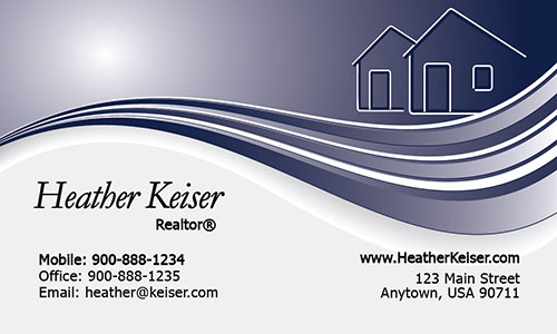 Trendy Realtor Photo Business Card - Design #106121