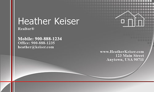 Clean and Minimal Real Estate Business Card - Design #106301