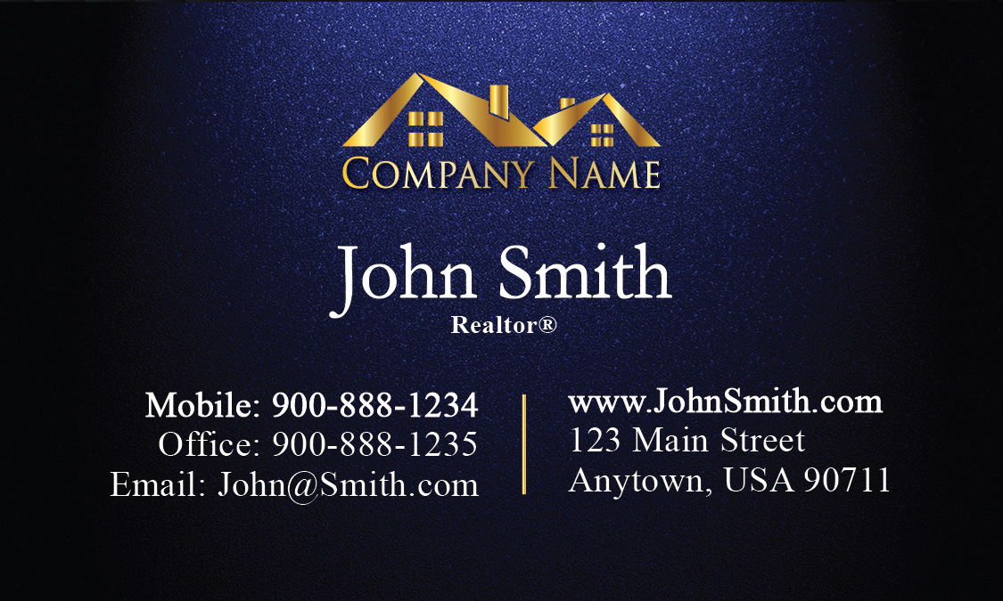 Realty business card with gold logo design 106311 reheart Gallery