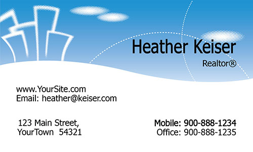 White and Blue Realtor Business Card - Design #106331