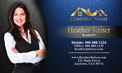 Cool Realtor Photo Business Card - Design #106342