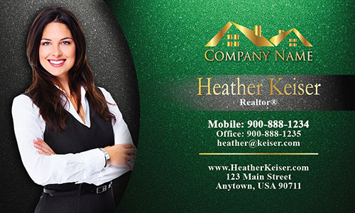 Cool Realtor Photo Business Card - Design #106343