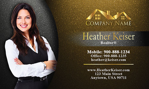 Cool Realtor Photo Business Card - Design #106344