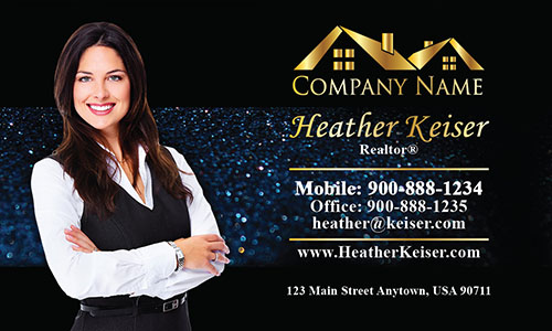 Stylish Realtor Business Card - Design #106352