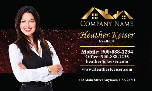 Stylish Realtor Business Card - Design #106353