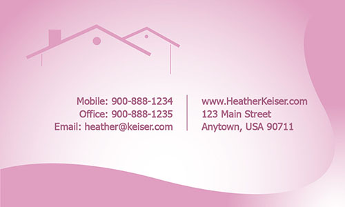 Modern and Stylish Real Estate business Card - Design #106361