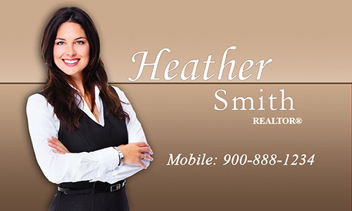 Custom Realtor Business Card - Design #106371