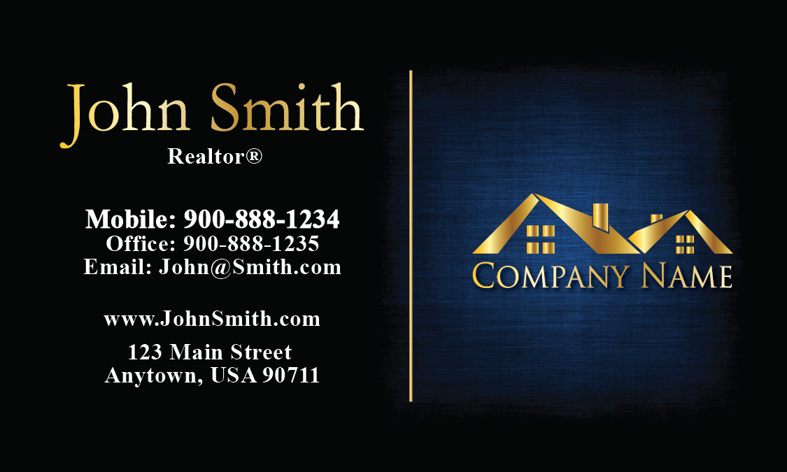 Unique Realtor Business Card - Design #106381