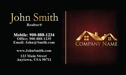 Unique Realtor Business Card - Design #106382