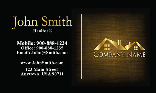 Unique Realtor Business Card - Design #106383