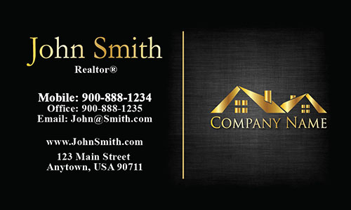Unique Realtor Business Card - Design #106384