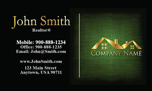 Unique Realtor Business Card - Design #106385