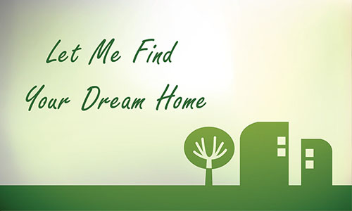 Green Abstract Tree and House Real Estate Business Card - Design #106401