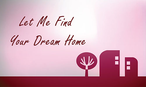 Pink Abstract Tree and House Real Estate Business Card - Design #106403