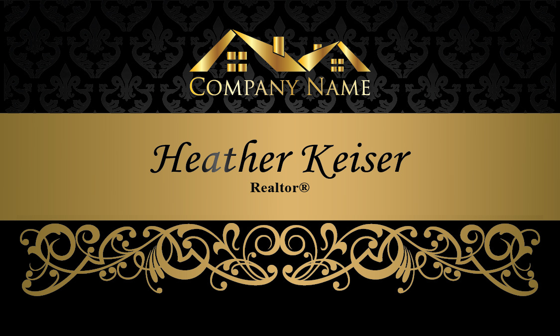 Luxury gold label realtor business card design 106411 reheart