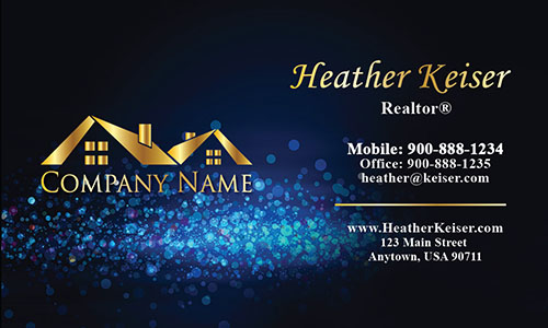 Double Sided Realtor Business Card - Design #106431