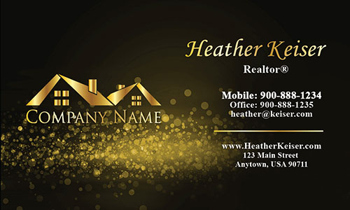 Double Sided Realtor Business Card - Design #106433