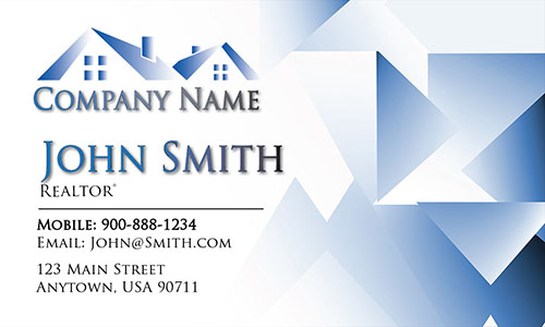 Trendy Real Estate Agent Business Card - Design #106442