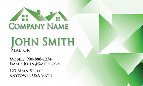 Trendy Real Estate Agent Business Card - Design #106443