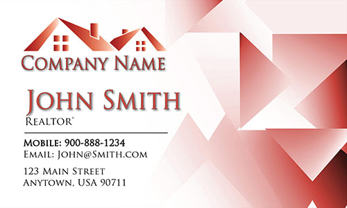 Trendy Real Estate Agent Business Card - Design #106445