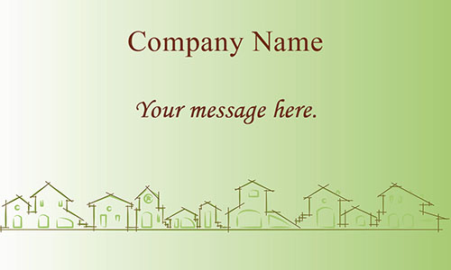 Real Estate and Property Management Business Card - Design #106461