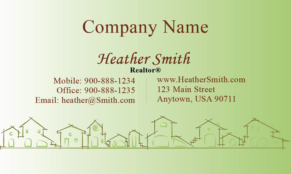 business card real estate and property management business card design ...