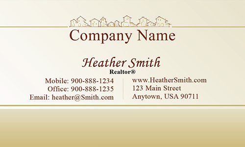 Brown Realtor and Builder Business Card - Design #106471