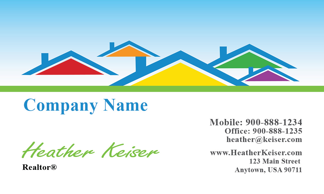 Realtor and construction business card design 106491 reheart