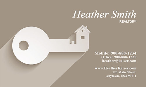 Independent Realtor Business Card - Design #106512