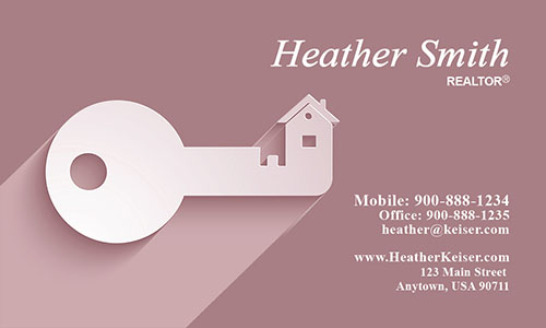 Independent Realtor Business Card - Design #106513