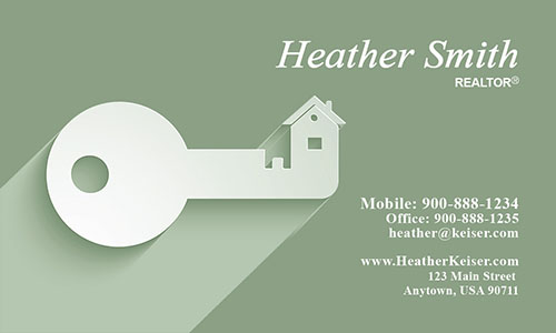 Independent Realtor Business Card - Design #106514