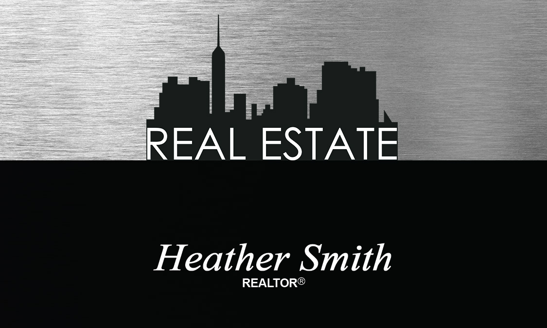 Stainless Real Estate Business Card - Design #106521