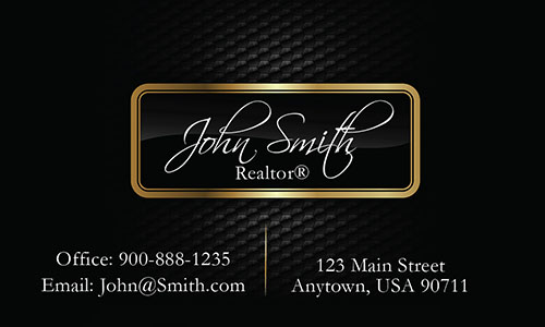 Realtor Business Cards with Text - Design #106541