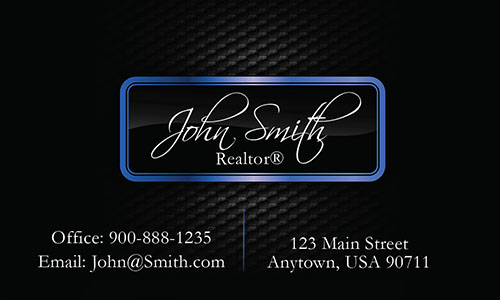 Realtor Business Cards with Text - Design #106542